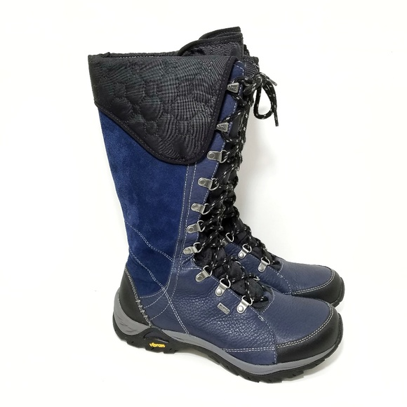 4553396b62b Ahnu blue leather waterproof tall winter boots 9